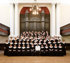 Picture of choir in black and white dress