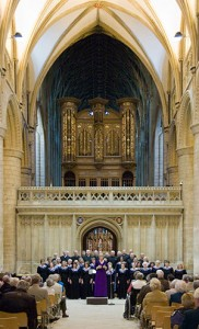 Picture of choir in Gloucester Cathedral