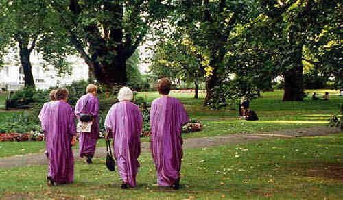 Picture of Ladies in Purple in the garden of RAH
