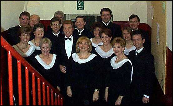 Picture of group with Michael Crawford
