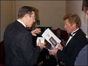 Picture of Michael Crawford with Choir President