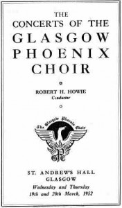 Picture of Choir Programme from 1953
