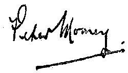 Peter Mooney's Signature